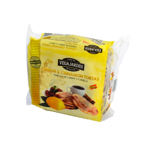 Vegajardin Lemon and Cinnamon Olive Oil Tortas 180 g