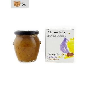 Mermelada Artesana de Cebolla, Miel y Mostaza De Argalla. Pack 6 x 220 g