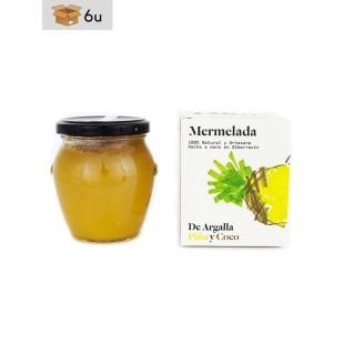 Mermelada Artesana de Piña y Coco De Argalla. Pack 6 x 220 g
