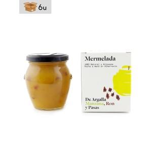 Mermelada Artesana de Manzana, Ron y Pasas De Argalla. Pack 6 x 220 g