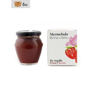 Mermelada Artesana de Fresa y Rosas De Argalla. Pack 6 x 220 g