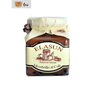 Mermelada Artesana de Membrillo al Café Elasun. Pack 6 x 350 g