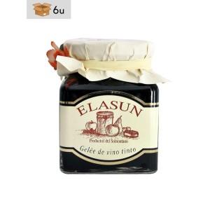Handgemachtes Rotwein-Gelée Elasun. Pack 6 x 350 g