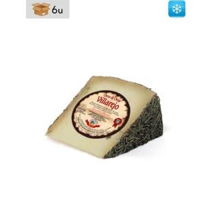 Handwerklich hergestellter Schafskäse mit Rosmarin Villarejo. Pack 6 x 380 g