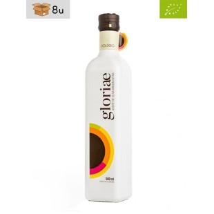 Aceite de Oliva Virgen Extra Ecológico Picual Gloriae Marasca. Pack 8 x 500 ml