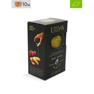 Einzeldosis Natives Bio-Olivenöl Utopía. Pack 10 x 120 ml