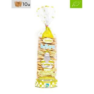 Tüte Keks Marinera ökologisch mit kaltgepresstem Olivenöl Virgen Extra Daveiga. Pack 10 x 200 g