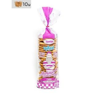 Tüte Keks Marinera mit Chia-Samen und Olivenöl Virgen Extra Daveiga. Pack 10 x 200 g