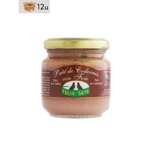 Paté de Codorniz con Foie. Pack 12 x 130 g