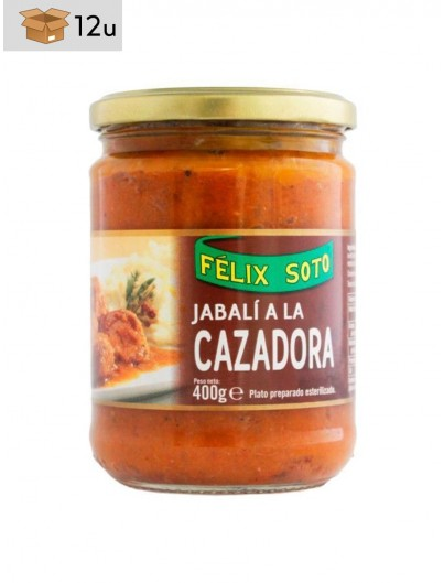 Jabalí a la Cazadora. Pack 12 x 400 g