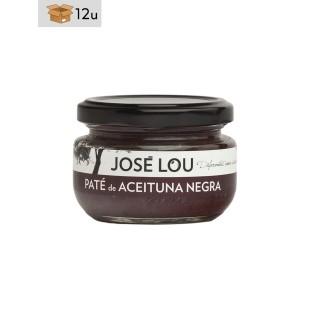 Schwarzer Olivenpaté Empeltre José Lou. Pack 12 x 110 g