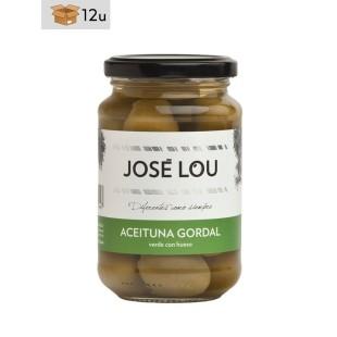 Gordal Oliven mit Kern José Lou. Pack 12 x 355 g