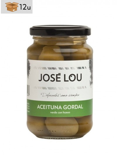 Aceituna Gordal con hueso José Lou. Pack 12 x 355 g