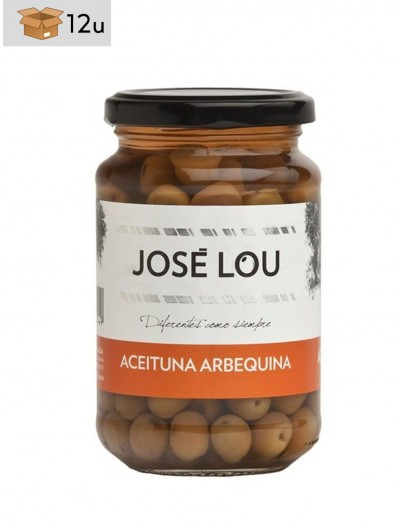 Aceituna Arbequina José Lou. Pack 12 x 355 g