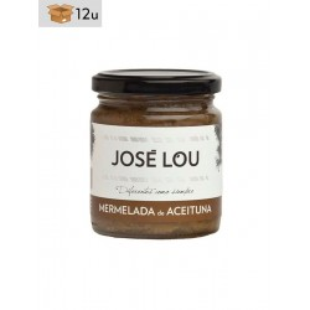 Grüne Olivenmarmelade José Lou. Pack 12 x 250 g