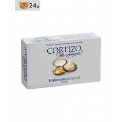 Natural Cockles Cortizo. Pack 24 x 111 g