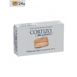 Filetes de Atún en Aceite de Oliva Cortizo. Pack 24 x 120 g