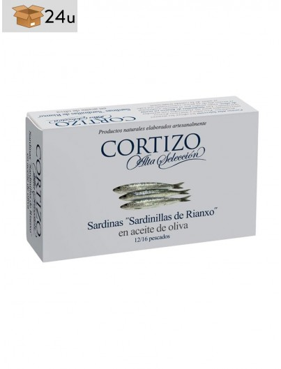 Sardinillas de Rianxo Cortizo. Pack 24 x 120 g