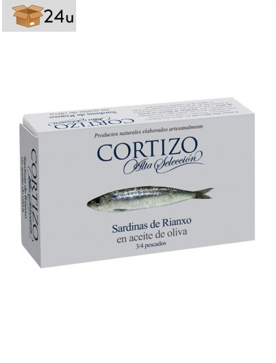 Sardinas de Rianxo Cortizo. Pack 24 x 120 g