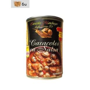 Caracoles Manchegos Hélix Aspersa Müller en salsa. Pack 6 x 415 g