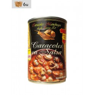 Snails Helix Aspersa Müller in sauce. Pack 6 x 415 g