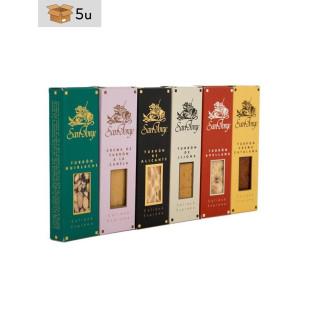 Set 6x50g Nougats Bars San Jorge. Pack 5 sets