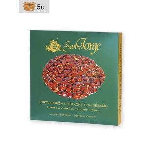 Krokant (Guirlache) Nougat mit Sesam San Jorge. Pack 5 x 200 g
