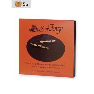 Torta de Chocolate con almendras San Jorge. Pack 5 x 200 g