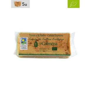 Turrón Ecológico a la Piedra La Colmena. Pack 5 x 200 g