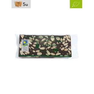 BIO Milchschokolade mit Mandel Nougat La Colmena. Pack 5 x 200 g