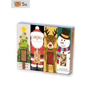 Estuche Navidad 4x50g barritas Turrón San Jorge. Pack 5 estuches