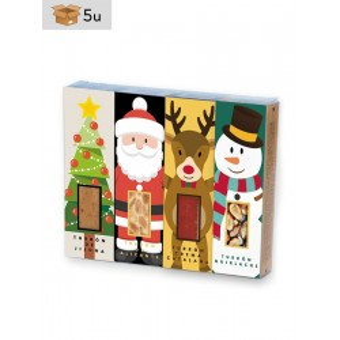 Set Weihnachten 4x50g Riegel Nougat San Jorge. Pack 5 set