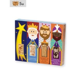Three Wise Men Set 4x50g nougat bars San Jorge. Pack 5 sets