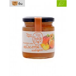 Peach Organic Jam with Agave Syrup. Pack 6 x 260 g