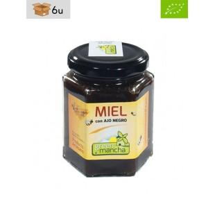 Organic Honey with Black Garlic. Pack 6 x 240 g