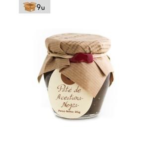 Olivenpaste aus Schwarzen Oliven La Cuna. Pack 9 x 85 g