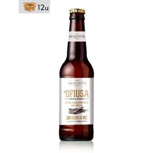 Handwerklich hergestelltes blondes Bier Ofiusa mit Johannisbrot aus Ibiza. Pack 12 x 33 cl