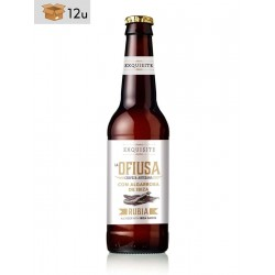 Ofiusa Blonde Artisanal Beer with carob of Ibiza. Pack 12 x 33 cl