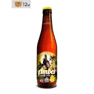 """Handwerklich hergestelltes Bier Birra & Blues """"Amber"""". Pack 12 x 33 cl"""