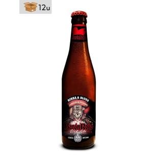 """Handwerklich hergestelltes Bier Birra & Blues """"Barón Rojo-Red Ale"""". Pack 12 x 33 cl"""