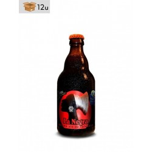 """Handwerklich hergestelltes Bier Birra & Blues """"La Negra"""". Pack 12 x 33 cl"""