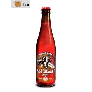 """Handwerklich hergestelltes Bier Birra & Blues """"Red Wheat"""". Pack 12 x 33 cl"""