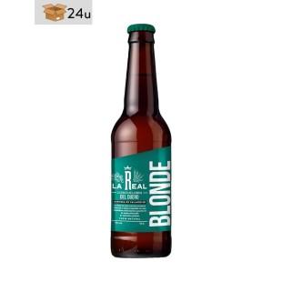 """Handwerklich hergestelltes Bier La Real """"Blonde"""". Pack 24 x 33 cl"""