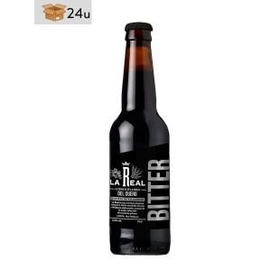 """Handwerklich hergestelltes Bier La Real """"Bitter"""". Pack 24 x 33 cl"""