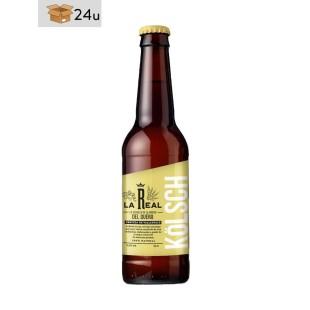 """Handwerklich hergestelltes Bier La Real """"Kölsch"""". Pack 24 x 33 cl"""
