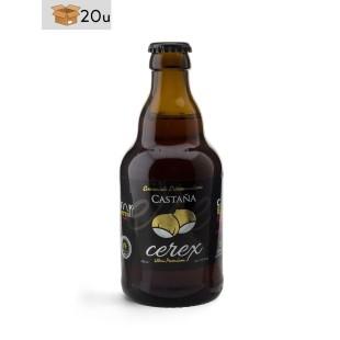 """Handwerklich hergestelltes Bier Cerex """"Castaña"""". Pack 20 x 33 cl"""