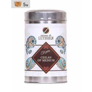 Schwarzer Tee Ceylon Op Medium 40 Pyramiden-Tee-Aufgussbeutel mit je 2,5 g. Pack 5 x 100 g