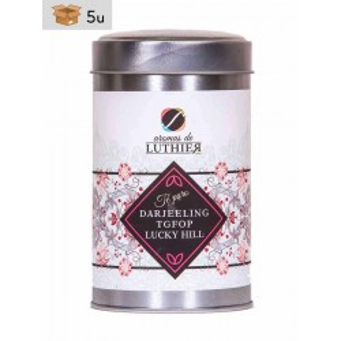Darjeeling Tea Tgfop Lucky Hill Black Tea 40 tea bags of 2,5 g. Pack 5 x 100 g