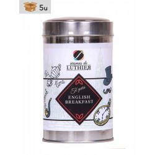 Schwarzer Tee English Breakfast 40 Pyramiden-Tee-Aufgussbeutel mit je 2,5 g. Pack 5 x 100 g