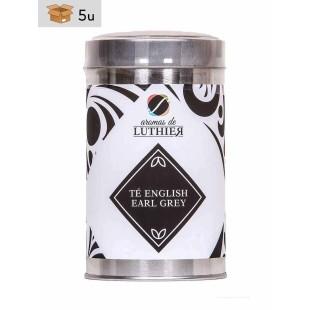 Schwarzer Tee English Earl Grey 40 Pyramiden-Tee-Aufgussbeutel mit je 2,5 g. Pack 5 x 100 g